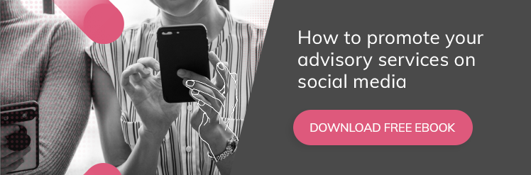Download our ebook How to promote advisory on social media