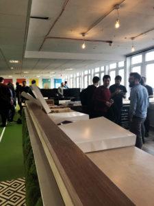 Futrli staff enjoy their new offices and kitchen space in Brighton UK